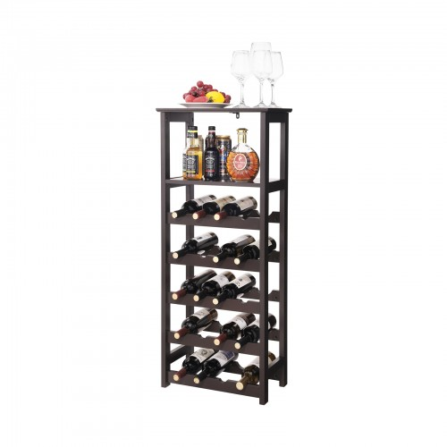 Wooden Display Wine Rack