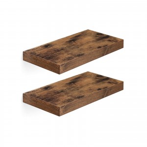 Rustic Brown Floating Shelves