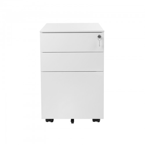 White Steel File Cabinet