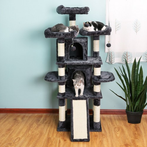 Smoky Gray Cat Tree
