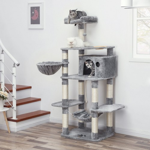 Cat Tower with Feeder