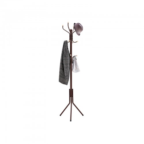 Espresso Metal Coat Rack