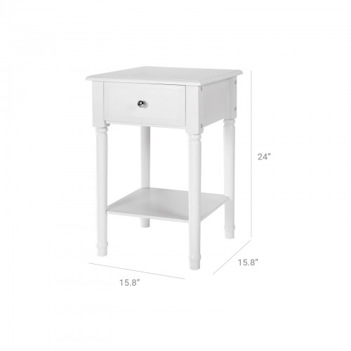 Single Drawer Corner Table