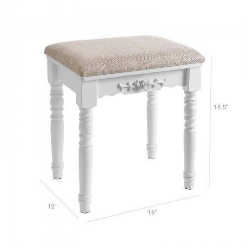 Remarkable Padded Vanity Stool Creativecarmelina Interior Chair Design Creativecarmelinacom