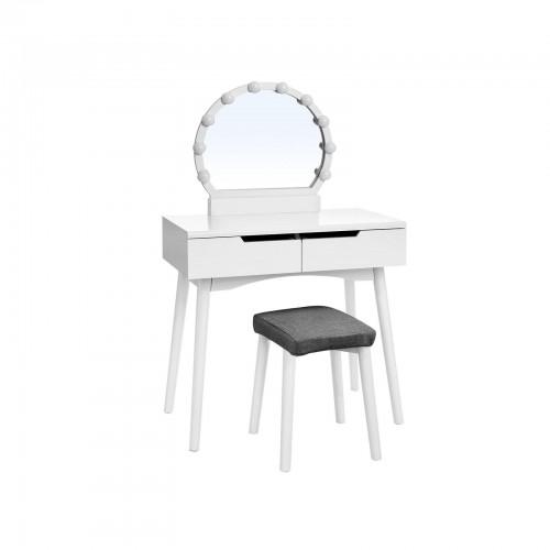 Round Mirror Vanity Set Vanity Set Vasagle By Songmics