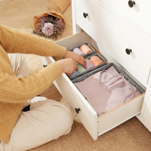 4 Woven Drawer Organizers