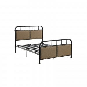 Full Size Metal Bed Frame with Headboard