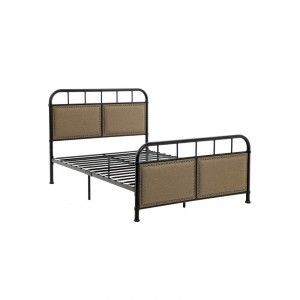 Metal Frame with Vintage Headboard Footboard