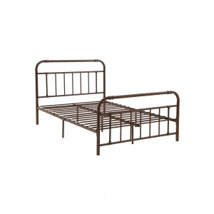 Pipe Metal Bed Frame with Headboard and Footboard