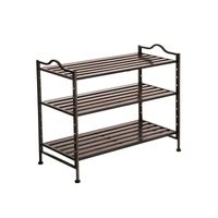 Bronze Slat Shoe Rack