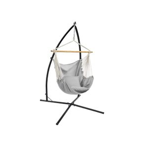 Hammock Chair with Stand Gray