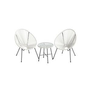 White 3-Piece Outdoor Acapulco Chair