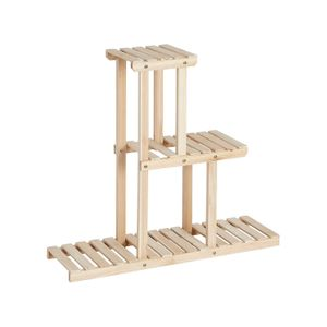 Natural Color Solid Wood Plant Holder Stand