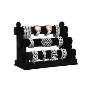 Black Velvet Bracelet Holder