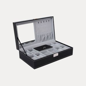 Black Lockable Watch Box