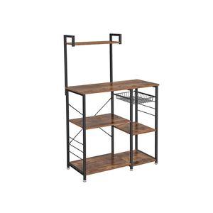 Industrial Brown Baker's Rack with Shelves