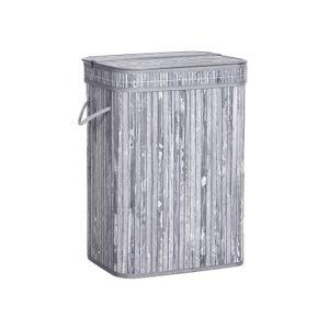 Bamboo Grey Laundry Hamper