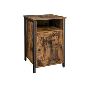 Adjustable Shelf Bedside Table