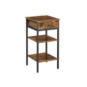 Tall Nightstand with Drawer and Shelves