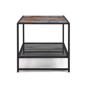 Mesh Shelf Side Table
