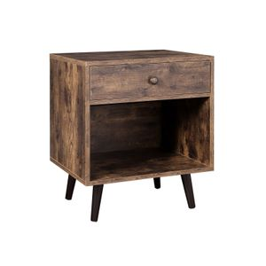 Open Compartment End Table