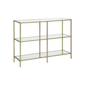 Modern Design Golden Glass Console Sofa Table