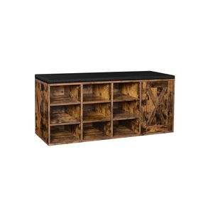 9 Compartments Shoe Bench