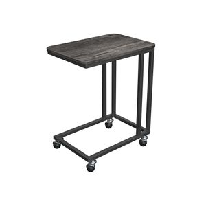 End Table Charcoal Gray and Black