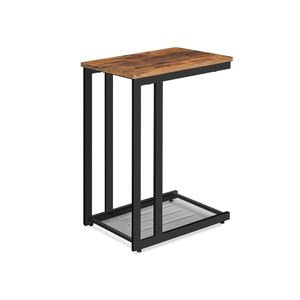 Industrial Brown C-shaped Side Table