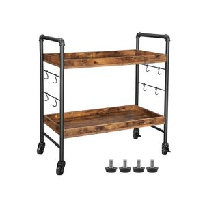 Universal Casters Kitchen Cart