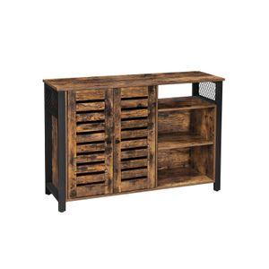 2 Doors Industrial Rustic Brown Sideboard Cabinet