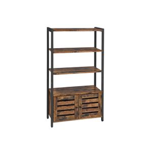 Industrial Rustic Brown Free Standing Storage Cabinet