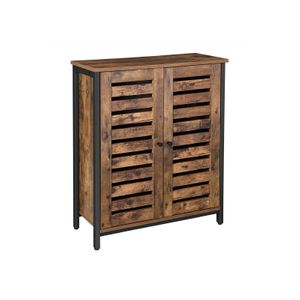 Double Louvered Doors Cabinet