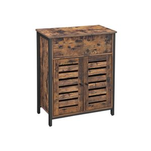 Industrial Brown Storage Cabinet with 1 Drawer