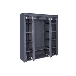 Grey Portable Clothes Closet