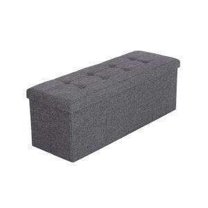 Folding Storage Ottoman Bench