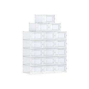 Pack of 18 Stackable Shoe Organizers