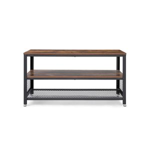 Rustic Brown Vintage TV Stand Entertainment Center