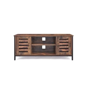 Industrial TV Console Unit Rustic Brown