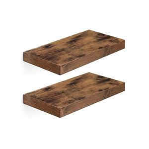 Rustic Brown Floating Shelves