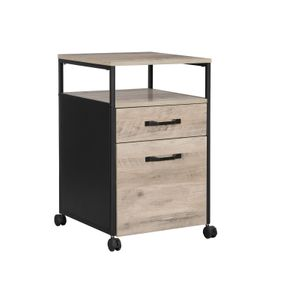 Greige Filing Cabinet on Wheels with Drawer