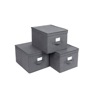 Large Grey Storage Bins