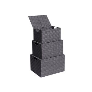 3 Strap Storage Boxes