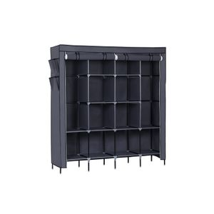 Gray Fabric Wardrobe