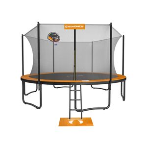 Orange and Black Outdoor Trampoline