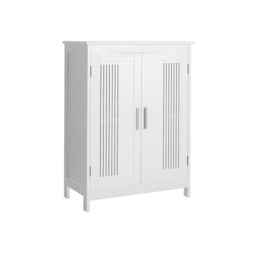 Matte White Bathroom Cabinet