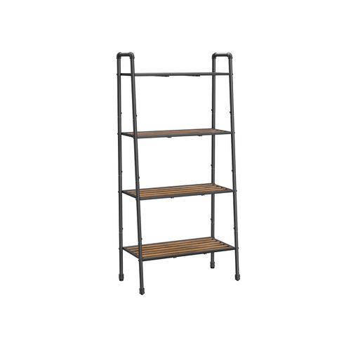 4-Tier Ladder ShelfBlack