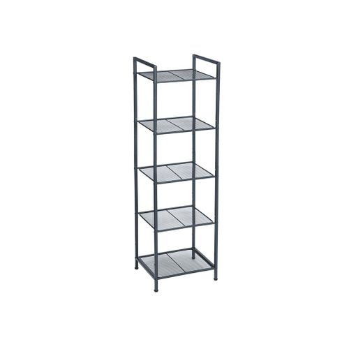 Black 5-tier Metal Storage Rack for Kitchen