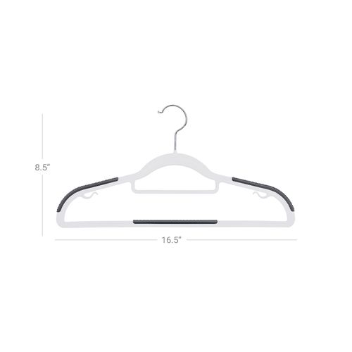 Space Saving 360/° Swivel Hook SONGMICS 20 Pack Coat Hangers White and Grey CRP041WG02 Premium Quality Plastic Suit Hangers Non-Slip Heavy Duty Durable S-Shaped Opening 0.5 cm Thick