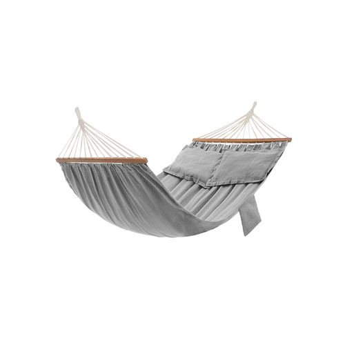 Double Hammock with 2 Pillows Gray